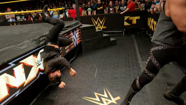 Corbin laid waste to Aries. Photo- WWE