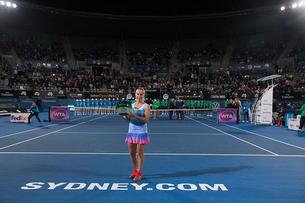 Svetlana Kuznetsova after taking the title in Sydney back in January (Corbis Sport/Steve Christo)