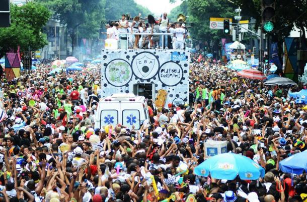 Desfile do Cordão da Bola Preta em 2014 (Foto: Walter Mesquita/ RioTur)