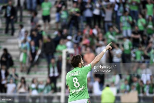 Benjamin Corgnet during his time with Saint-Etienne. Source - Getty Images.