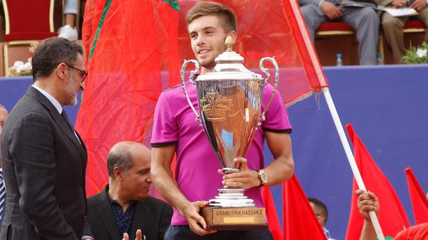 Coric won his only career title on clay in Marrakesh, pictured. Photo: ATPworldtour.com