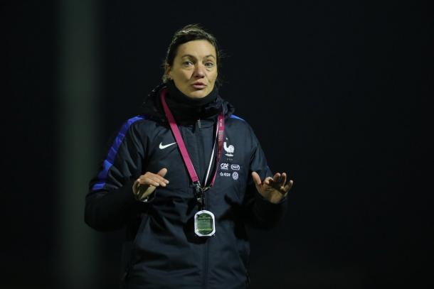 Head coach Corinne Diacre faces a major test | Source: equipe de france