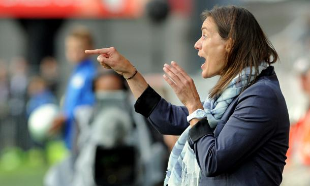 Corinne Diacre has been Clermont Foot's head coach since 2014 (source: The Gaurdian)