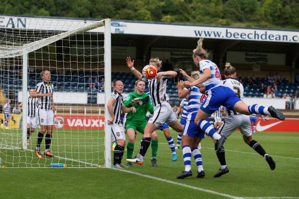 All action as Reading have an early flurry of set-pieces (Credit: Richard Claypole)