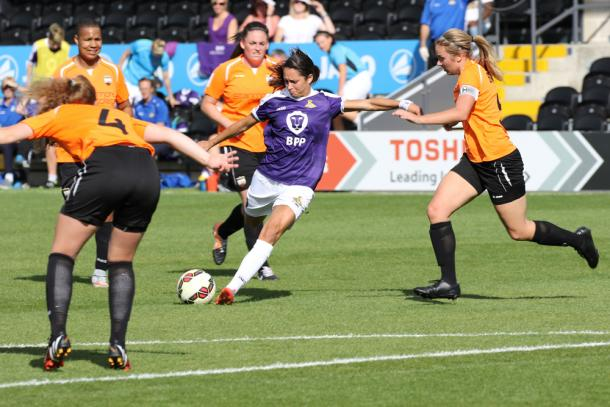 Sweetman-Kirk will hope the goals continue to come as she targets plenty for both herself and her team. | Photo: Doncaster Belles