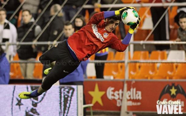 Thibaut Courtois en su etapa en el Atlético de Madrid vía Carla Cortés (VAVEL)