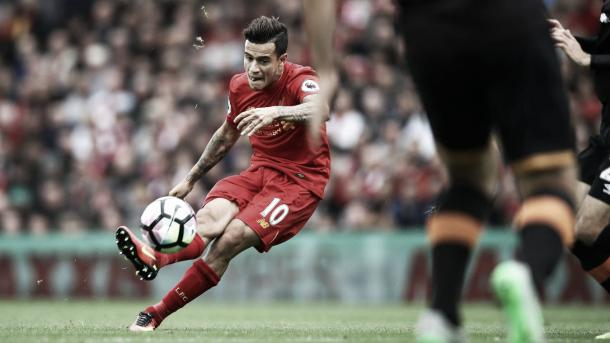 Coutinho anotó el cuarto gol ante el Hull City. Foto: Premier League.