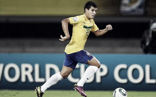 Phillipe Coutinho in action for Brazil (image: empireofthekop.com)