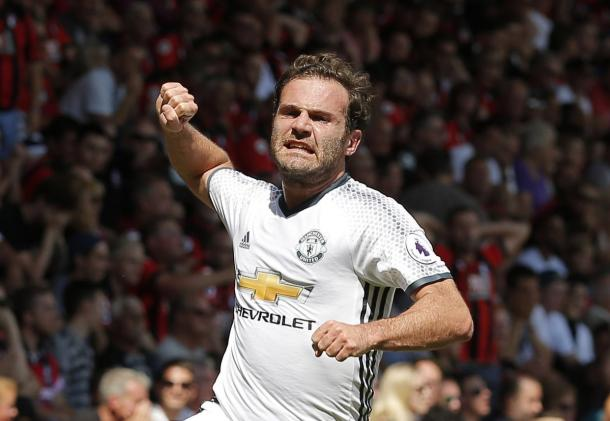 Mata celebrates giving United the lead | Photo: Getty