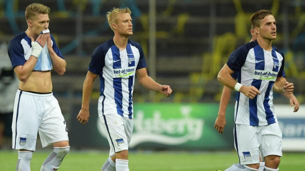 European heartbreak for the men from Berlin. | Photo: Hertha BSC