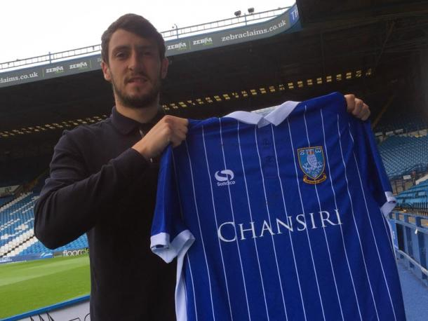 Above: Will Buckley been unveiled as a Sheffield Wednesday loanee | Photo: swfc.co.uk