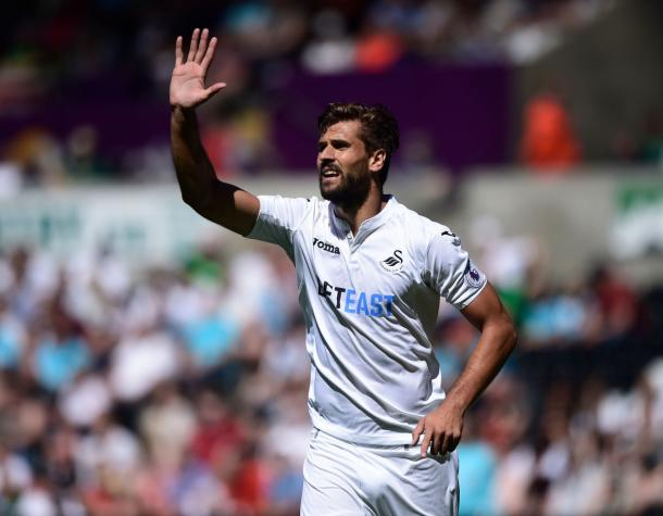 Fernando Llorente enjoyed a lively debut, even without the goal he was craving. (Photo: Swansea City AFC)