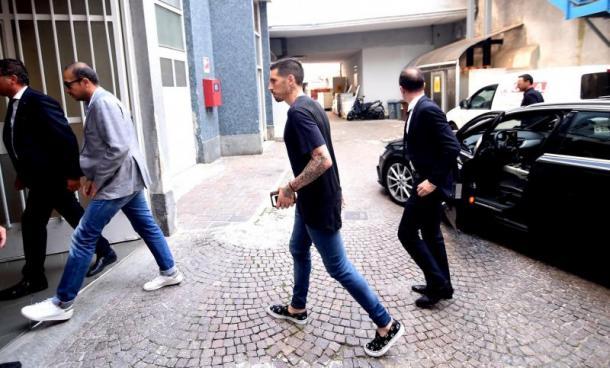 L'arrivo di José Sosa alla Madonnina. Fonte foto: gianlucadimarzio.com