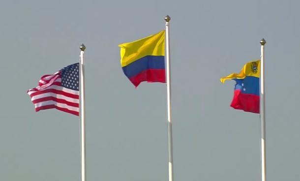 Banderas del podio femenino BMX / Foto: @MelissaMOrtiz