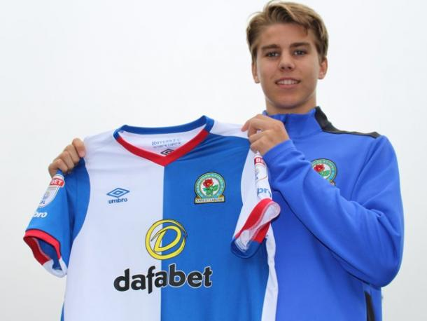 Above: Martin Samuelsen been unveiled as a Blackburn Rovers player | Photo: Twitter