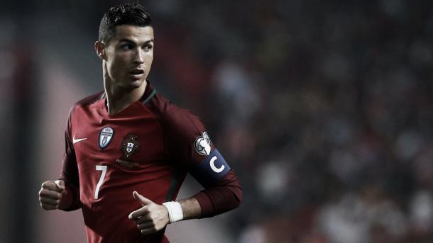 Cristiano Ronaldo vistiendo la camiseta de Portugal. / Foto: fpf.pt