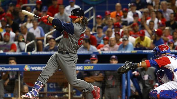 Brandon Crawford has big night at the dish. | Photo: World Baseball Classic