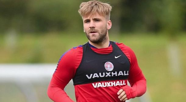 Shaw in England training earlier in the week | Photo: Getty