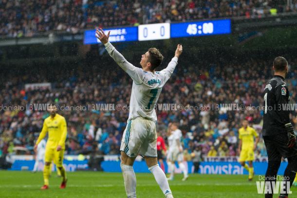 Cristiano se lamenta en el partido ante el Villarreal/Foto: Daniel Nieto (Vavel)