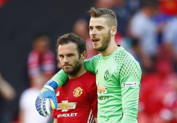Mata and De gea will be looking to play a big part for United this weekend | Photo: Getty