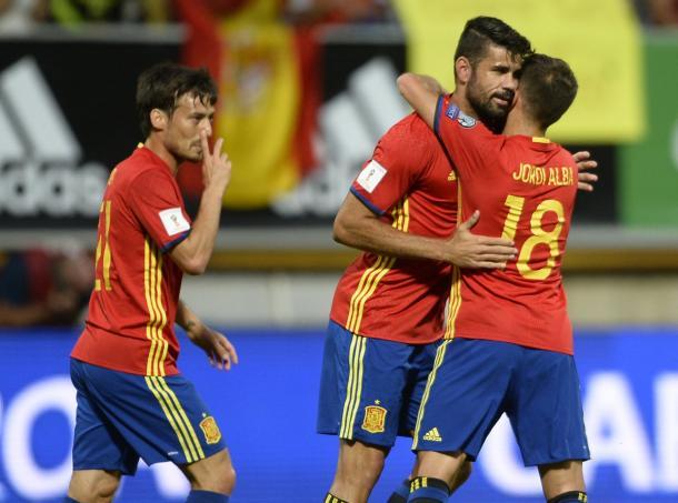 L'esultanza dei giocatori spagnoli | Foto: @ESPNFC