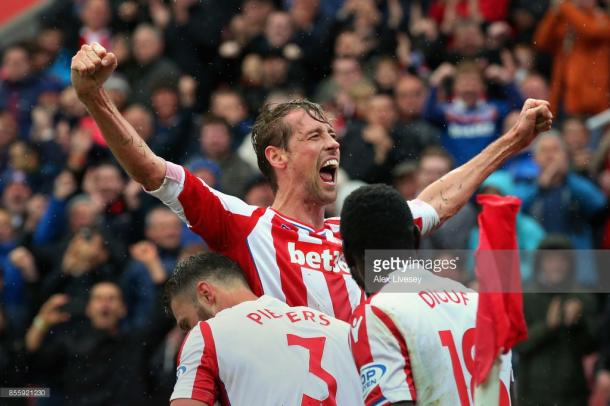 Crouch has 43 Premier League goals for Stoke. Source | Getty Images.