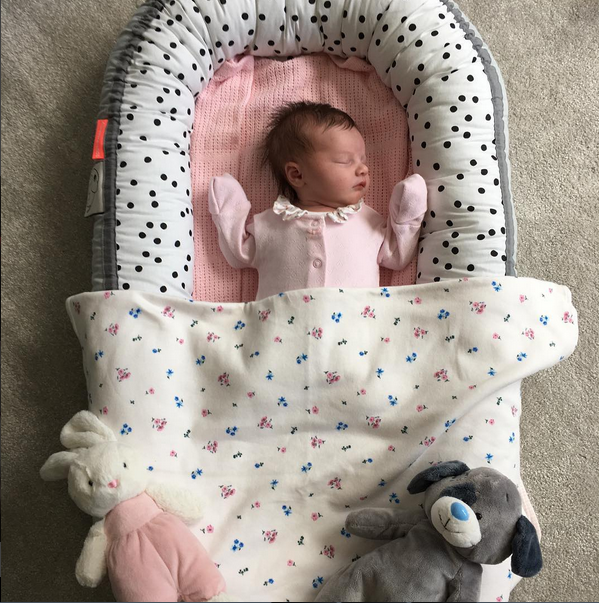 Willow Crutchlow almost one week old - Instragram (Cal Crutchlow)