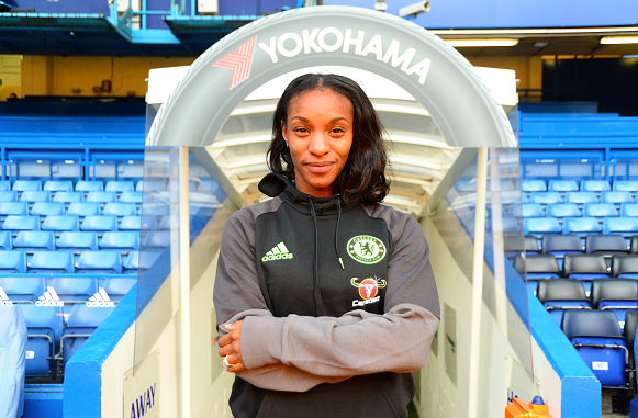 Crystal Dunn's first day at Chelsea. Source: Chelsea Ladies FC