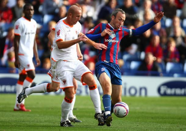 Palace taking on Blackpool in a Championship fixture in 2009 | Photo: Getty images