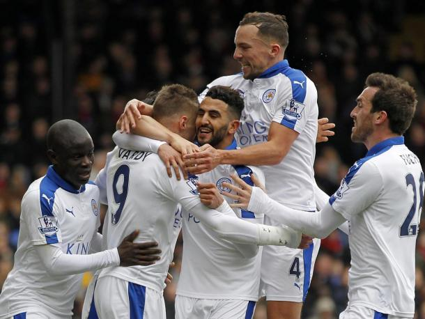 The Foxes celebrate their winning goal at Selhurst Park | Photo: Getty