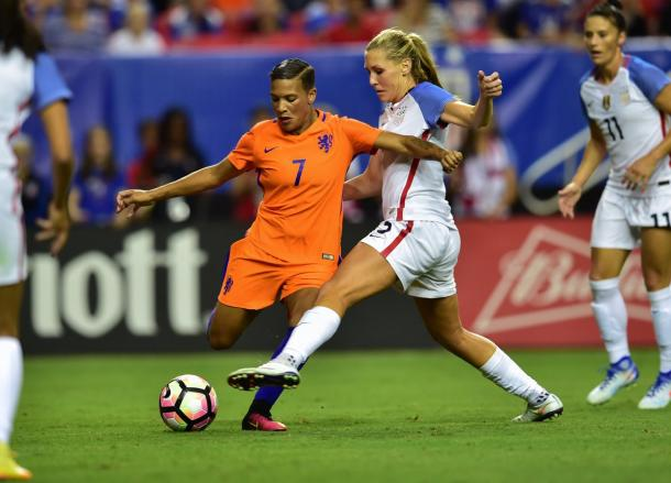 Shanice van de Sanden opened the scoring | Source: ussoccer_wnt