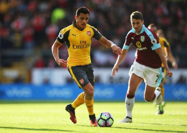 Alexis Sanchez in azione | Fonte: Twitter @Arsenal