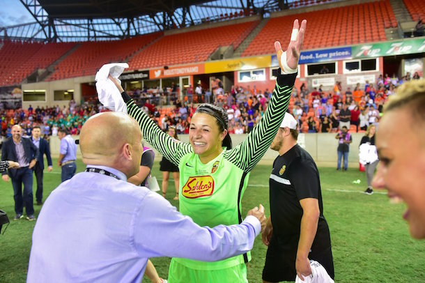 Sabrina D'Angelo was named match MVP (Western New York Flash Twitter, @WNYFlash)
