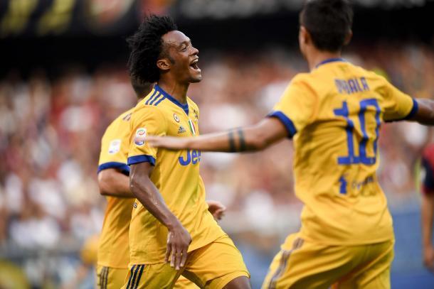 Cuadrado marcou o gol da virada da Juve (Foto: Divulgação/Juventus FC)