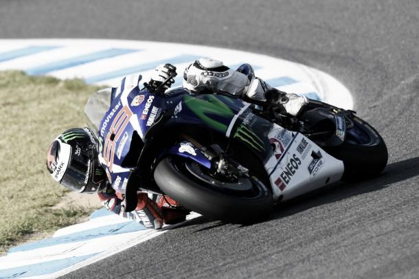 Paso por curva de Jorge Lorenzo | Foto: Movistar Yamaha MotoGP