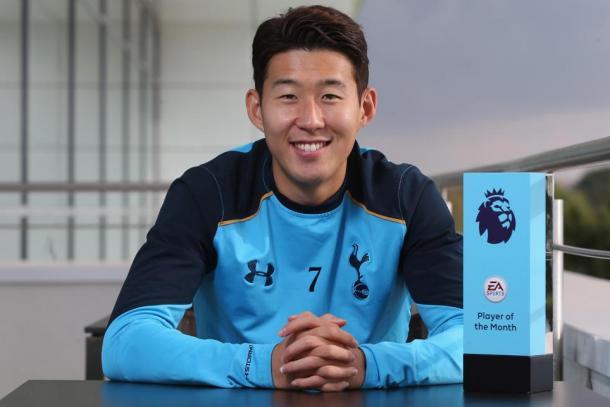 Son, el mejor jugador del mes de septiembre empezara desde el banquillo. Foto: Premier League