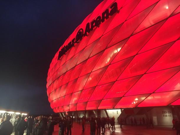 Allianz Arena pronta per la sfida di stasera. Fonte: Twitter Account Bayern Monaco