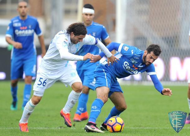 Saponara in azione contro il Chievo | Fonte: twitter.com/empolicalcio