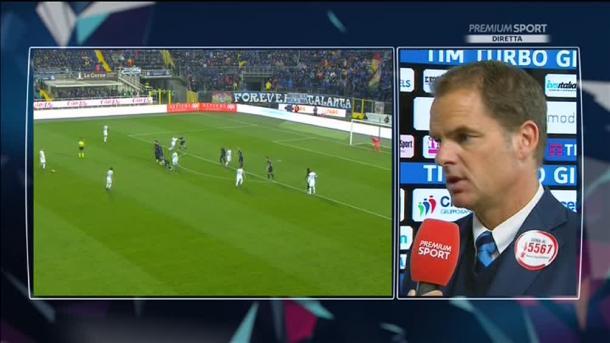Frank de Boer nel post partita - Mediaset
