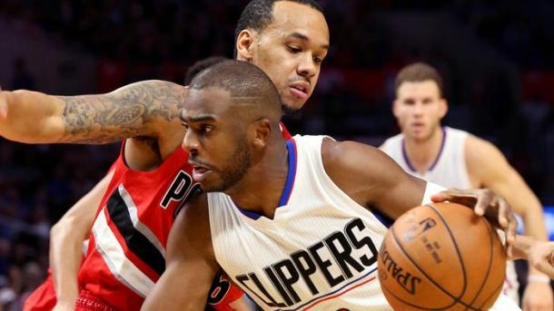 Chris Paul in azione.   Fonte immagine: Twitter Los Angeles Times