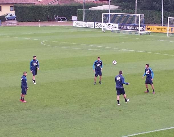 Gli azzurri in allenamento - Foto: Vivo Azzurro/Twitter