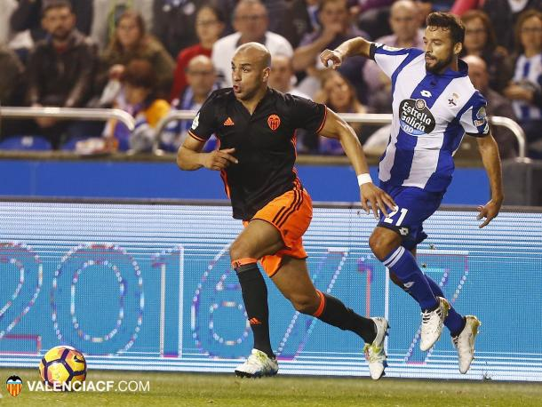 Abdennour tuvo problemas en su banda   Foto: Valencia CF