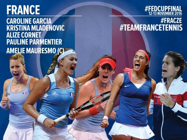France team for the finals | Photo: Fed Cup