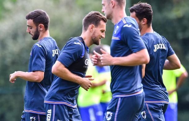 La rifinitura della Sampdoria. | Fonte: twitter.com/ucsampdoria