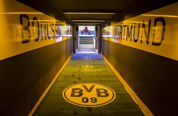 Il tunnel che porta sul prato del Westfalenstadion | Twitter: @BVB