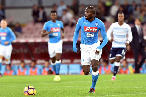 Koulibaly in azione. Fonte: twitter.com/sscnapoli?lang=it