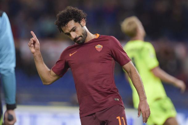 Salah ante el Bolonia |Foto: AS Roma