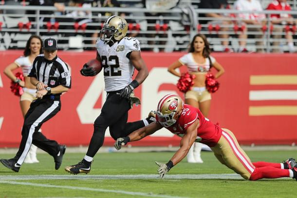 Mark Ingram had a 100-plus rushing yard day | Source: Michael DeMocker/NOLA.com