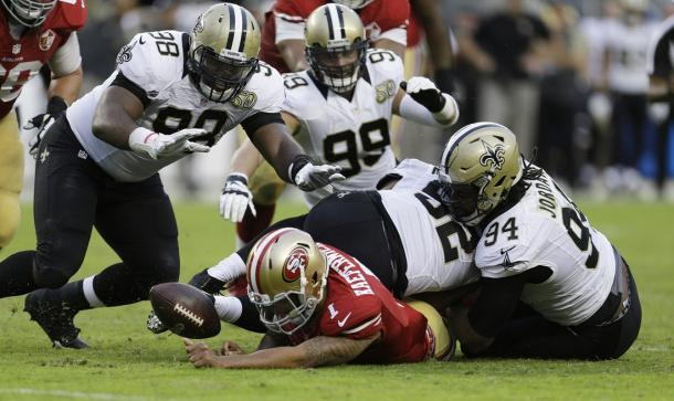 The Saints pass rush had a great second half | Source: neworleanssaints.com