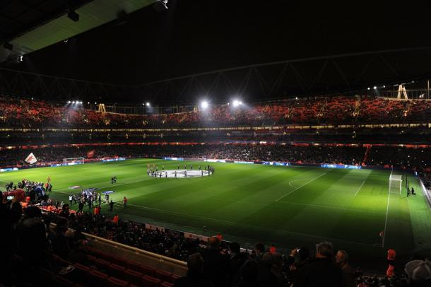 Partido Arsenal - PSG, foto del Emirates Stadium. Foto: Arsenal FC